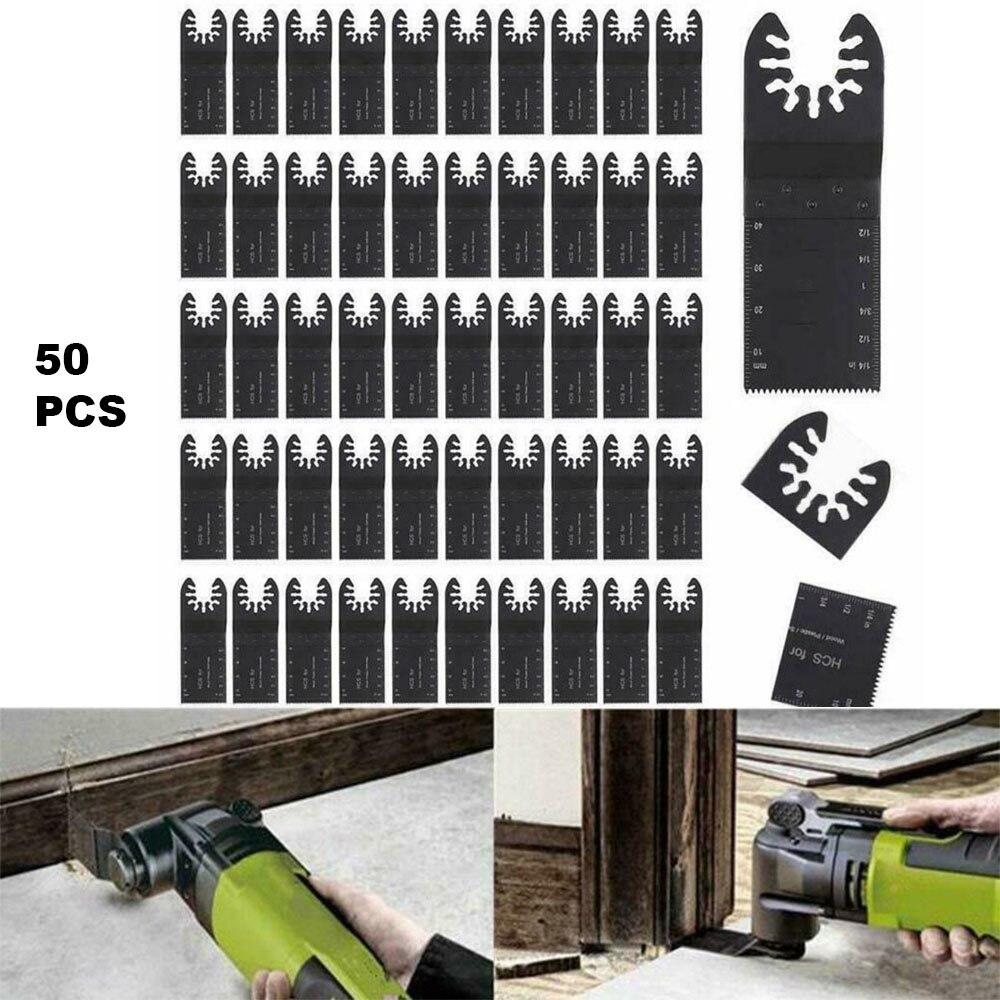 50 Pcs 34mm Saw Blades HCS Metal Oscillating Multi Tools For Metal Wood Cutting Saw Discs DIY Power Wood Cutting Tool Bits