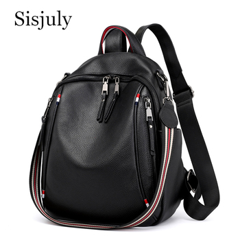 New Women Backpack PU Genuine Leather Fashion Causal Bags High Quality Cowskin Female Shoulder Bag for Teenage Girls Backpacks women backpack candy color transparent bag lovely ita bag cat ear pu leather backpacks women bags for schoolbags teenage girls