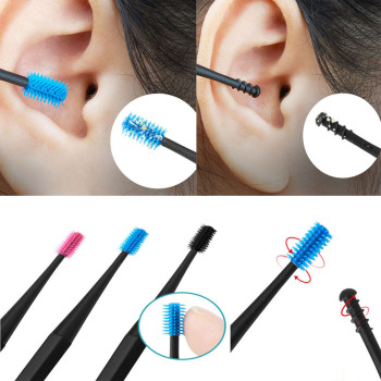 1 PC Silicone Spiral Massage Ear Spoon Double Head Ear Dig Ear Ear Ear Cleaning Ear Ear Care Support Customization