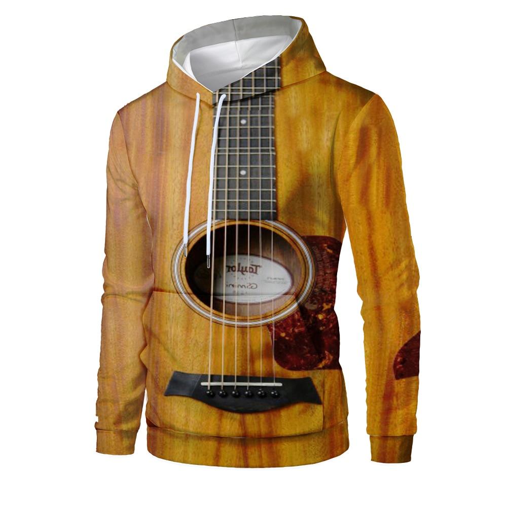 Hot sell Rock Style 3D Sweatshirts Men/Women Hooded Guitar Print Pullover Harajuku Casual Streetweaer Thin Loose Hoodies 2020