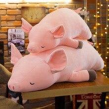 цена 1pc 40-50cm cute cartoon pig plush toy filled soft animal pig doll child gift children's toy kawaii girl gift WJ114 онлайн в 2017 году