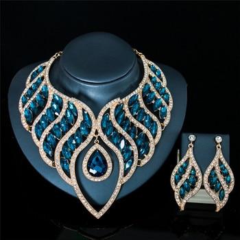 Luxury Waterdrop Crystal Jewelry Set 5