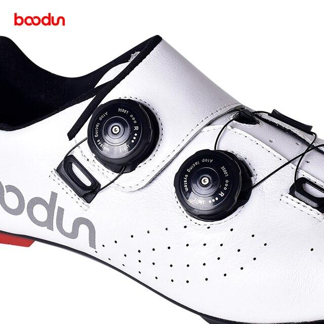 Tênis profissionais para ciclismo de estrada, calçados ultraleve de couro de fibra de carbono, para corrida e estrada, novo, 2020 4