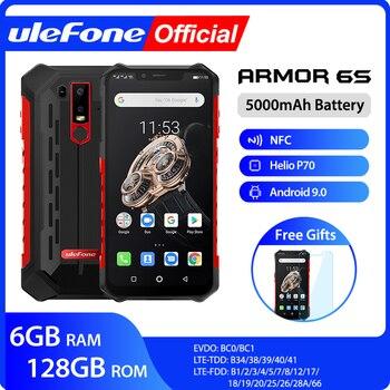 Перейти на Алиэкспресс и купить Ulefone Armor 6S Водонепроницаемый IP68 NFC прочный мобильный телефон Helio P70 Otca-core Android 9,0 6 ГБ 128 ГБ беспроводной зарядный смартфон
