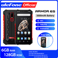 Ulefone Armor 6S Водонепроницаемый IP68 NFC прочный мобильный телефон Helio P70 Otca-core Android 9 0 6 ГБ 128 ГБ беспроводной зарядный смартфон