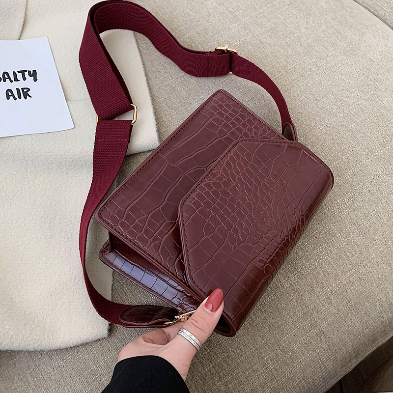 Stone Pattern Solid Color PU Leather Crossbody Bags For Women 2020 Mini Shoulder Messenger Bag Simple Travel Handbags