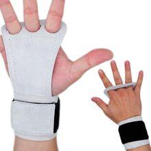 1 Pair Fitness Adjustable Anti-slip Leather Hand Grips Pad P