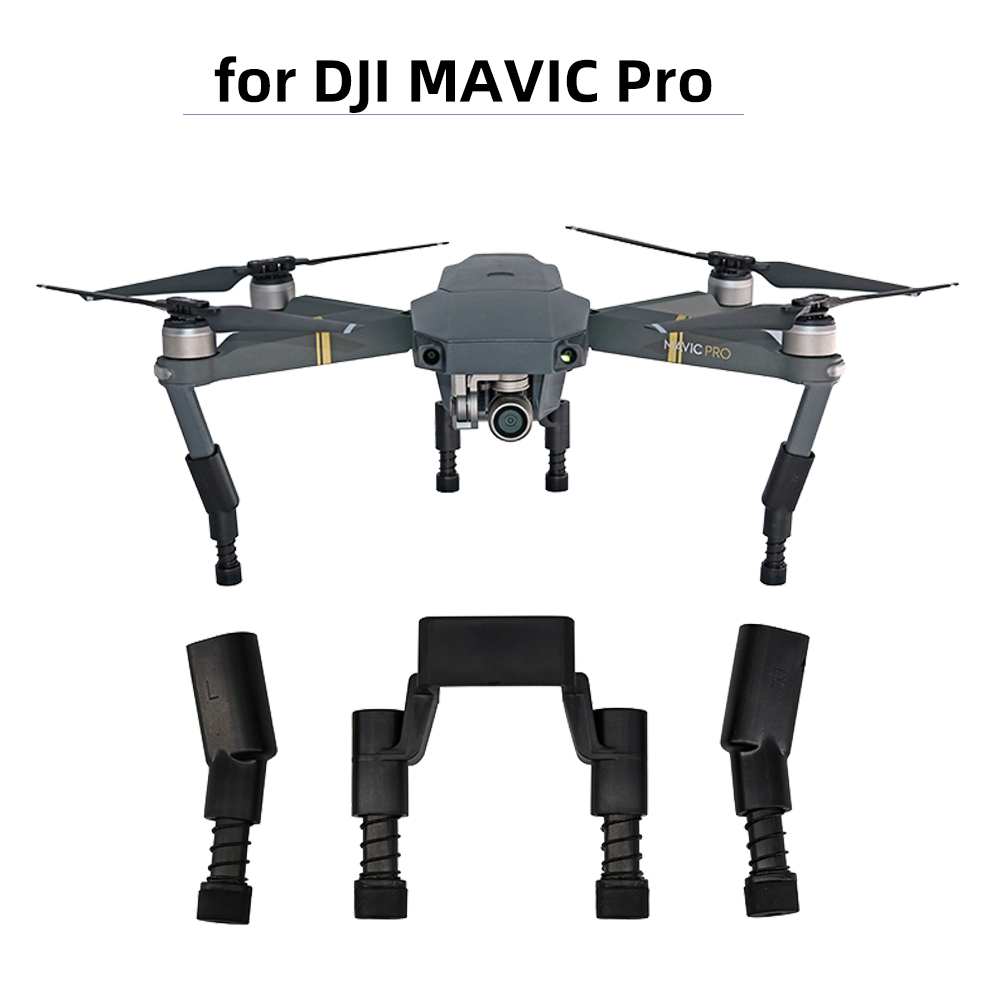 Height Extender Landing Gear Kits For DJI Mavic Pro Platinum Drone Protector Guard Leg Soft Spring Shockproof Feet Accessory