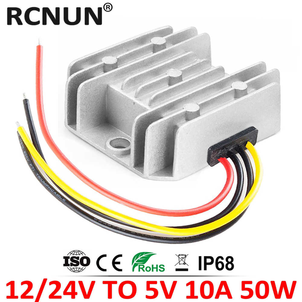 12 V 24V Naar 5 V 6V 10A Step Down Dc Dc Converter Regulator 12 Volt Naar 5 volt 50W Buck Power Supply Voor Auto Speelgoed