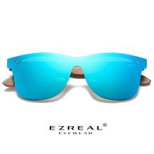 Ezreal artesanal óculos de sol homem polarizado nogueira de madeira eyewear feminino espelho vintage óculos de sol masculino uv400 polarizado lente