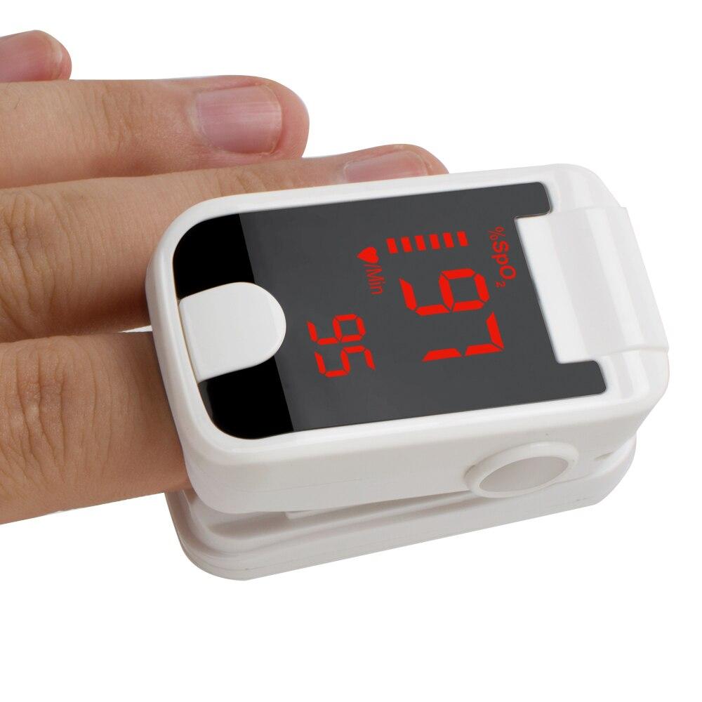 Finger Pulse Fingertip Oled Oximeter PI Blood Oxygen With Respiratory Rate