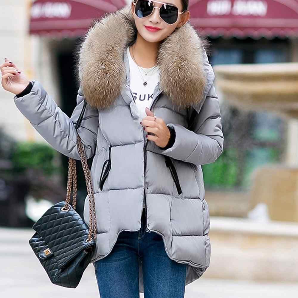 2019 แฟชั่นผู้หญิงฤดูหนาวผ้าฝ้ายอุ่นฤดูหนาวเสื้อแจ็คเก็ตเสื้อแขนยาว doudoune femme hiver #0923