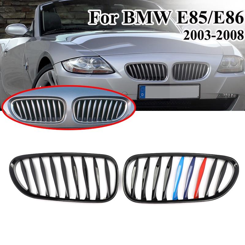 Color : Black Grille avant remplacement for E85 BMW Z4 E86 2003-2008 Grille Noir Laqu/é Rafra/îchissez Bussiness style Grille Calandre
