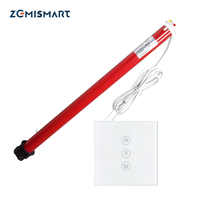 25mm Automatic Electric Roller Blinds Shutters Curtain Motor and Smart wifi wall switch suit for 38mm tube work with Alexa Echo