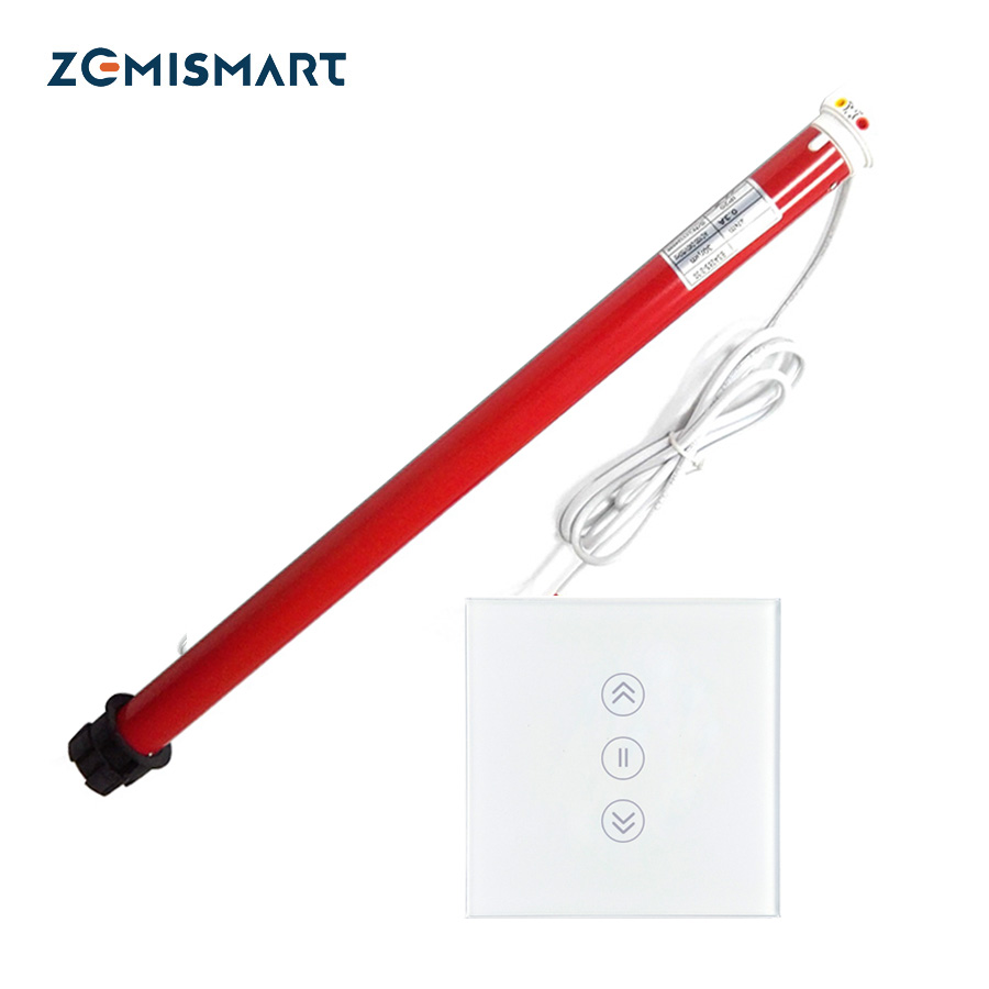 Moteur électrique automatique de rideau de volets de stores de rouleau de 25mm et costume intelligent d'interrupteur de mur de wifi pour le travail de tube de 38mm avec l'écho d'alexa