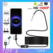 Android эндоскоп Камера HD 1080p 3,9 мм Мини Камера ПК Тип USB C эндоскоп для автомобилей Интерфейс IP67 Водонепроницаемый канализационные USB c