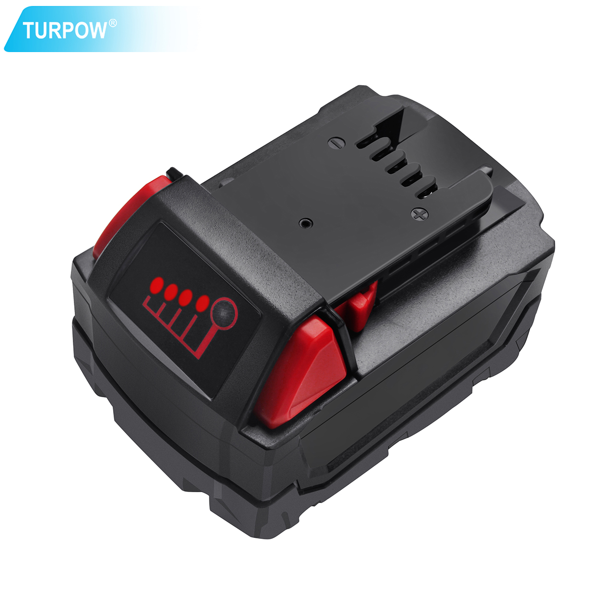 Turpow Rechargeable Li-ion <font><b>Battery</b></font> For <font><b>Milwaukee</b></font> <font><b>M18</b></font> 6000mAh Power Tools Replacement 48-11-1815 48-11-1850 48-11-1840 10L image