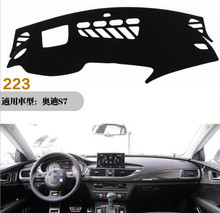 For Audi A7 S7 Car Dashboard Cover Avoid Light Pad Instrument Platform Dash Board Styling Accessories