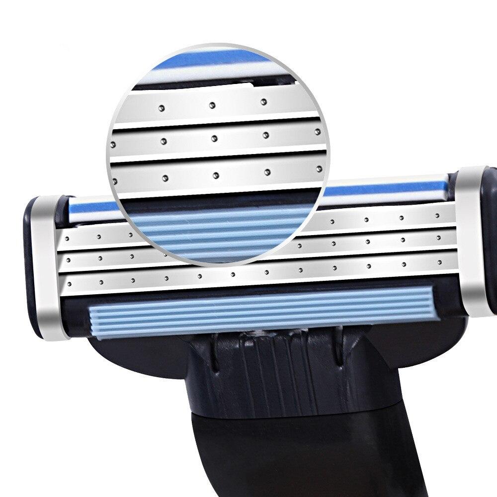 Купить с кэшбэком New Patent 12pcs Men's Face shaving Razor Blades Beard Shaver Blade Men High Quality Sharp Razors Blade For Gillettee Mache 3