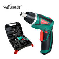 LANNERET 7.2V Li-Ion Cordless Electric Screwdriver Household Rechargeable Twistable Handle