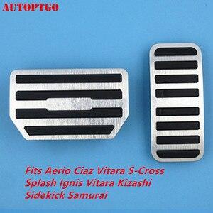 Автомобильный ускоритель/газ/педаль тормоза накладка комплект для Suzuki Vitara Ignis Kizashi Sidekick Samurai Aerio Ciaz S-Cross Splash