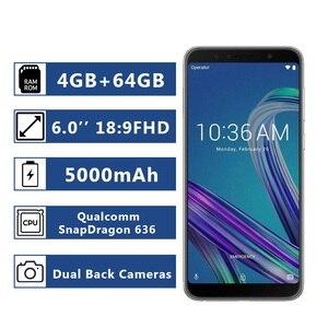 Image 1 - الإصدار العالمي من الهاتف الذكي Asus ZenFone Max Pro (M1) ZB602KL ذاكرة وصول عشوائي 4 جيجا بايت وذاكرة قراءة فقط 64 جيجا بايت هاتف ذكي 18:9 FHD 5000mAh Snapdragon 636 أندرويد