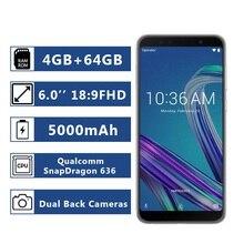 Phiên Bản Toàn Cầu Asus ZenFone Max Pro (M1) ZB602KL RAM 4GB ROM 64GB Điện Thoại Thông Minh 18:9 FHD 5000MAh Snapdragon 636 Android Смартфон