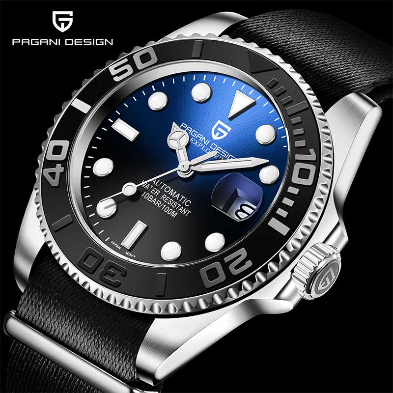 レロジオ masculino パガーニブランドデザインのメンズ腕時計ファッションの高級機械式腕時計防水腕時計メンズ