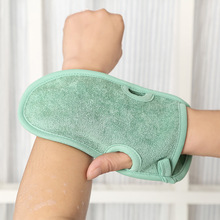 Two-sided Bath Mitts Body Cleaning Scrub Glove Shower Spa Rub  Dead Skin Scrubber Massage exfoliating Sponges Magic Brushes
