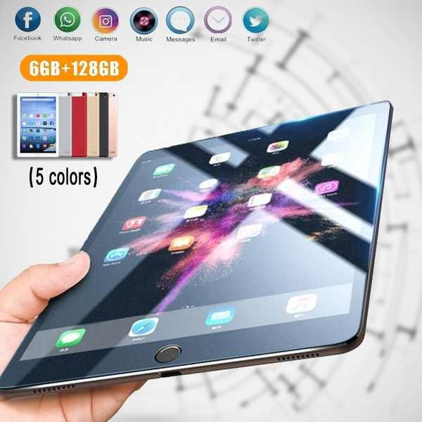 10.1 inç Bluetooth Android 8.1 on çekirdek 4G ağ 6GB + 128GB Tablet PC büyük 1280*800 IPS ekran çift SIM çift kamera 5.0 MP