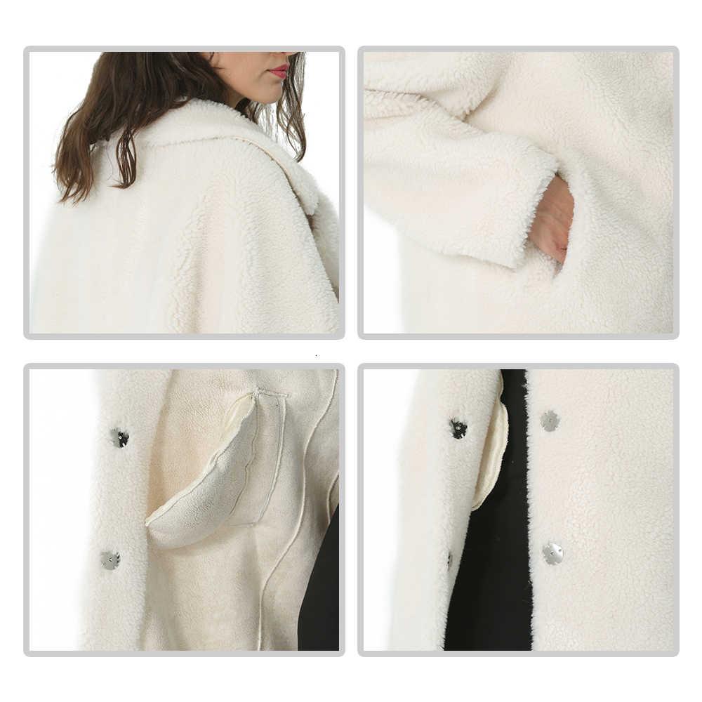 Musim Dingin Wol Mantel Wanita Wol Bulu Jaket Perempuan Panjang Wol Mantel Wanita Hangat Tebal Musim Gugur Mantel Wol Kasual Elegan 2019