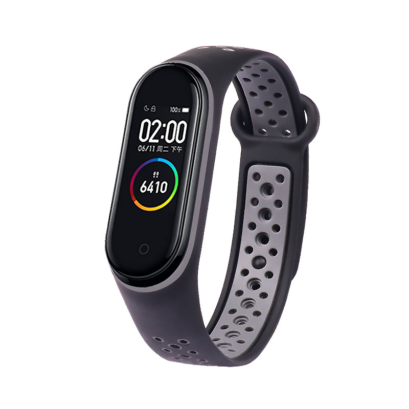 TEZER Silicone Strap for Xiaomi Mi Band 3 4 Breathable Straps Replacement M3 M4 Plus Bracelet for MiBand Smart Watch Wrist Strap