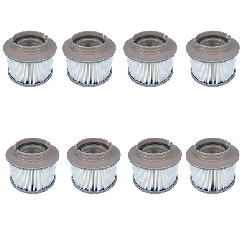 8 pièces MSPA remplacement filtre Pack baignoire gonflable garder propre pour Mspa filtre filtre à eau cartouche
