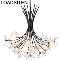 Lámpara Colgante De cristal europeo Para decoración del hogar, lámpara Colgante Moderna Para Sala De Jantar