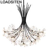 Luz pingente pendurar europeu de cristal casa deco moderno lampara colgante lustre e pendente para sala de jantar lâmpada pendurada