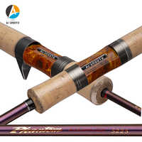 AI-SHOUYU New UL Fishing Rod Solid Tip Trout Lure Rod Fast Action 2-12g Portable Carbon Spinning/Casting Rod Travel Fishing Pole