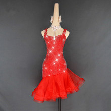 Children Girls Latin Dancing Red Salsa Dance Dress Rumba Samba Tango Cha Cha Training Clothes Competition Stage Wear Performance одежда для латинских танцев dancing queen 2015 regata cha cha dq3002