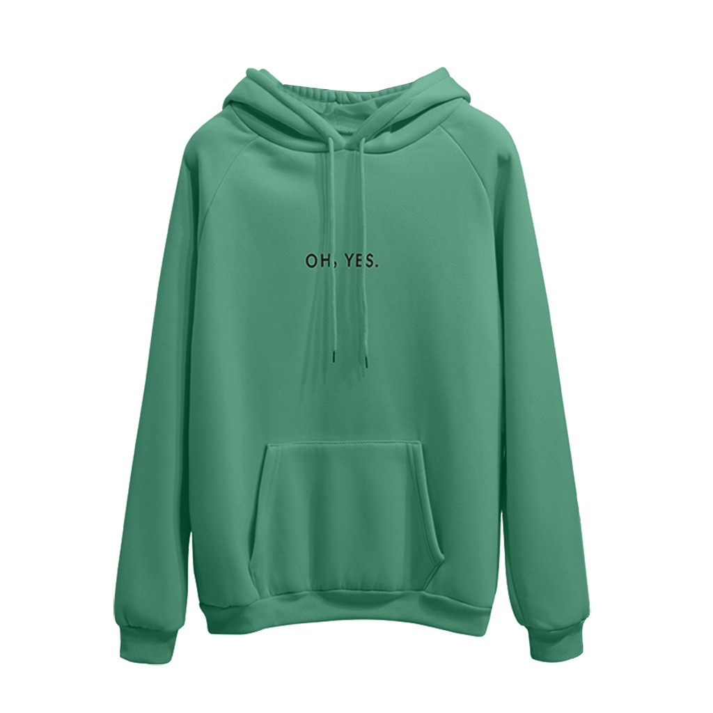 Domple Womens Letter Print Hoodie Sweat Shirt Drawstring Long Sleeve Blouse