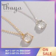 Thaya Sneeuw Bloem Gesneden Hanger Ketting S925 Zilver Edelweiss Crystal Elegante Vriendschap Charm Voor Vrouwen Eenvoudige Sierlijke Sieraden