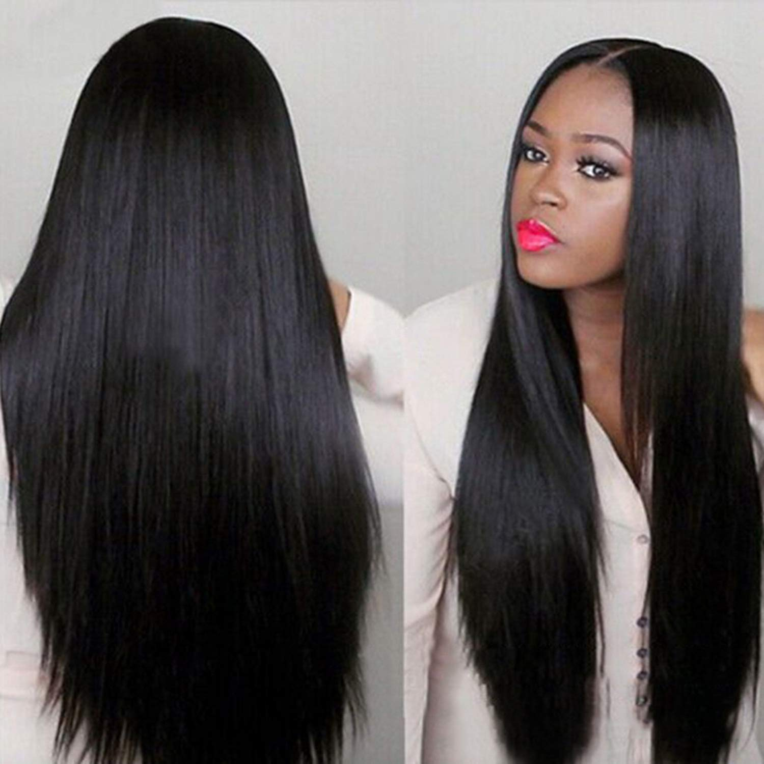 Straight Lace Front Wig Bob Wig Lace Front  Wigs  30 Inch Virgin Hair Wigs Bone Straight  Wig 4
