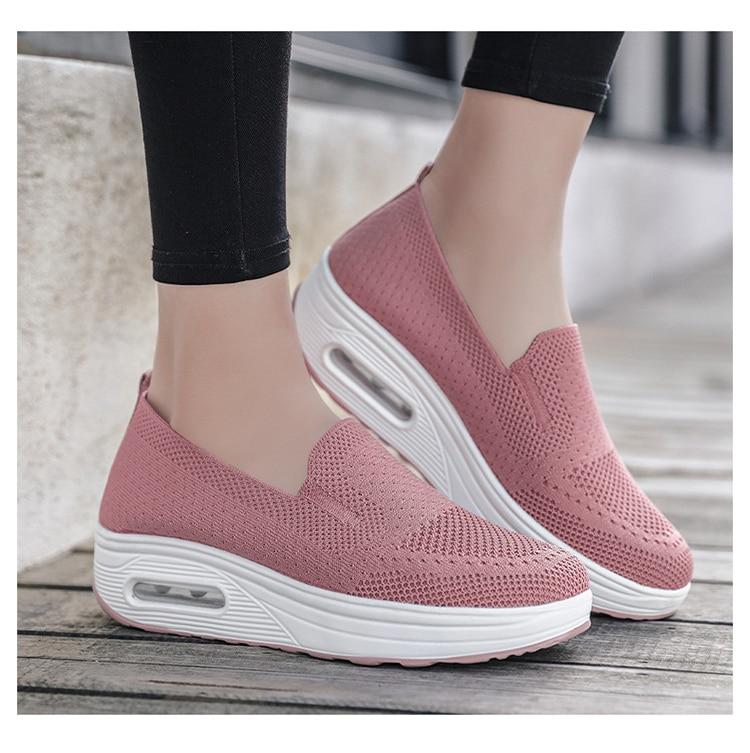 QJ 869-2020 New Spring Autumn Women's Flat Shoes Comfortable Nurse Sneakers-8