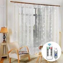 Luzes de fadas cortina decoração do casamento luzes cortina usb led ao ar livre quarto casa cortinas acessórios decoração led luz da corda
