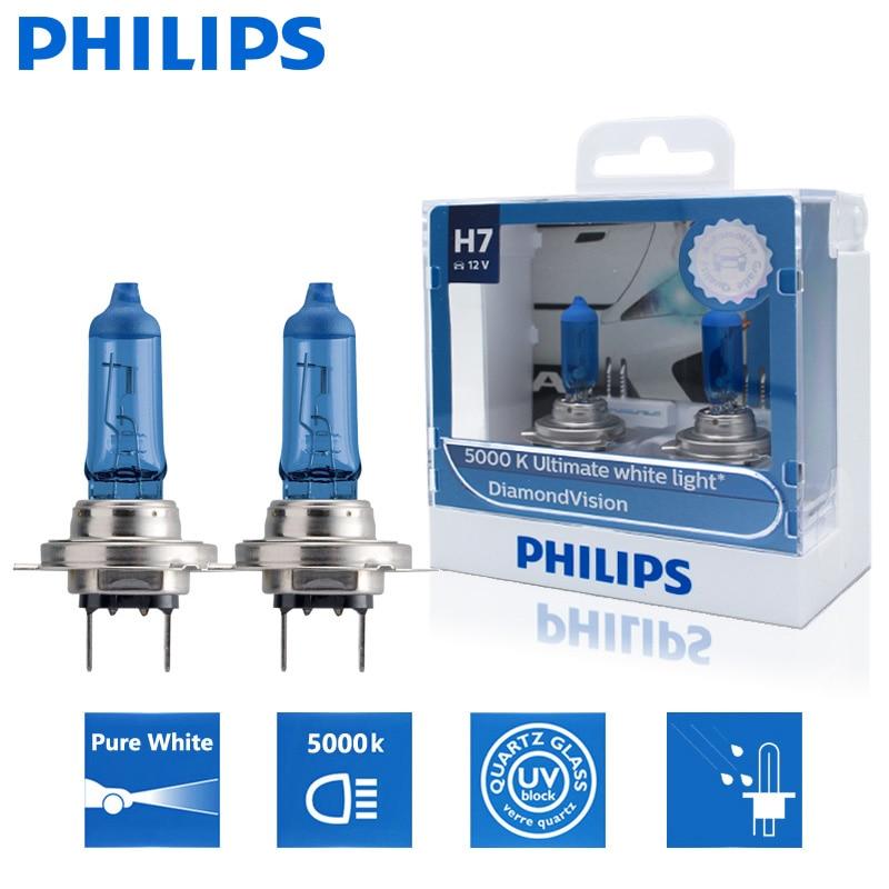 Car-Bulb Auto-Accessories Halogen 5000K Diamond Px26d Visio Super-White 12v 55w Philips H7