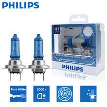 2X Philips H7 12В 55 Вт PX26d алмаз Visio 5000 К авто аксессуары Супер Белые автомобильные галогенные лампы для авто светильник лампы 12972DVS2