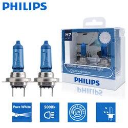 2x philips h7 12v 55w px26d diamante visio 5000k acessórios de automóvel super branco lâmpada do carro halogênio lâmpadas de automóvel 12972dvs2