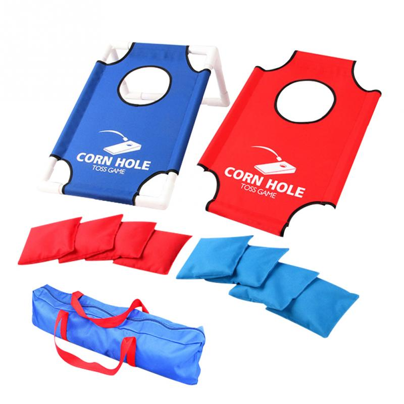 Family Collapsible Ourdoor Indoor Backyard Portable Lightweight With Bean Bags Cornhole Board Set Kids Toys Toss Game Sports