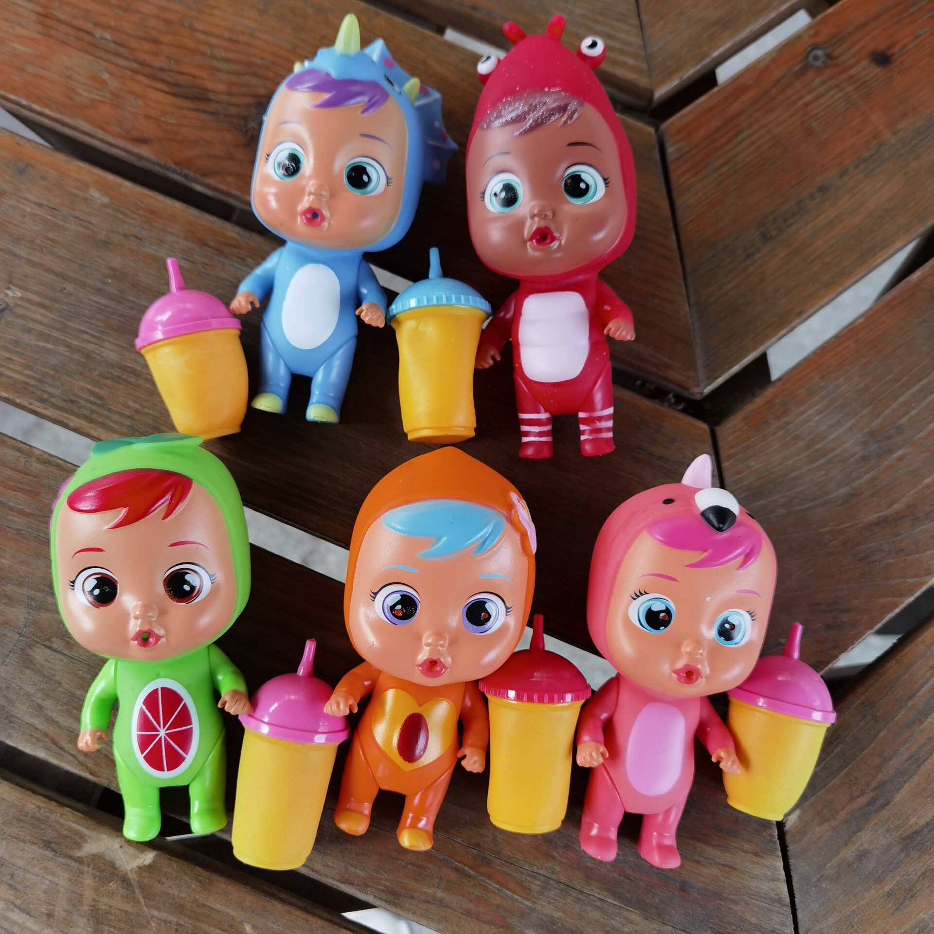 1pcs Choose  Cry Baby dolls Surprise Doll Boy Girl with Pacifier Bottle 12cm Tears Dolls DIY Toy Cryings Doll Children Gifts