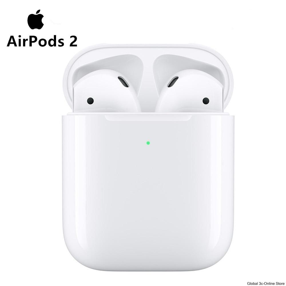 Neue Apple AirPods 2nd Bluetooth Headset mit Wireless Charging Fall für iPhone iPad MacBook iPod Apple Uhr
