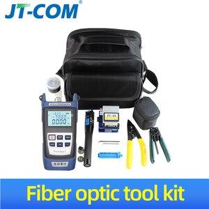 Image 1 - 12 pcs / ensemble FTTH Fibre Optic Tool Kit avec Fibre Cleaver  70 ~ + 10dBm Optique Power Meter Visual Fault Lcator 5 km FTTH fibre Outil de connexion froide fibre optique kits doutils livraison gratuite