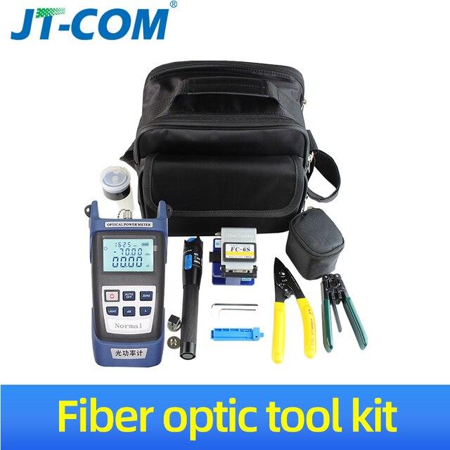 12 pcs / ensemble FTTH Fibre Optic Tool Kit avec Fibre Cleaver  70 ~ + 10dBm Optique Power Meter Visual Fault Lcator 5 km FTTH fibre Outil de connexion froide fibre optique kits doutils livraison gratuite